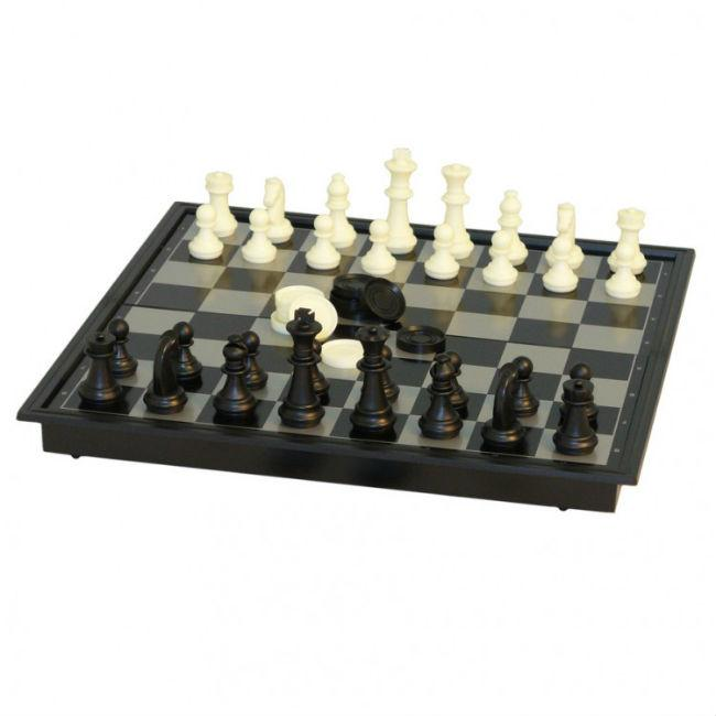 10″ Magnet Chess w NonMagnet Checkers