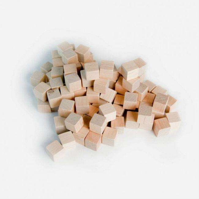 10 MM Wooden Cube Tokens Natural Accessories Mayday Games