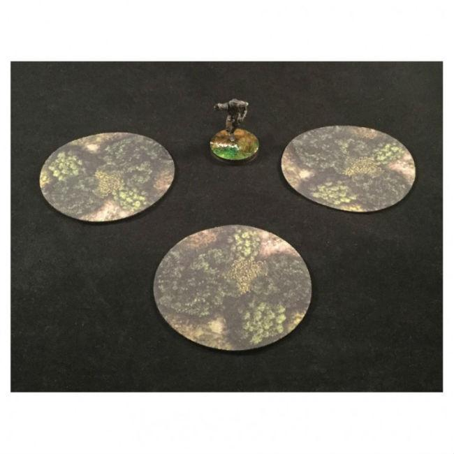 3 inch Area of Effect Markers Forest Miniatures Muse On