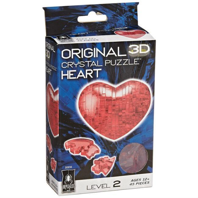 3D Crystal Puzzle: Heart (Red)