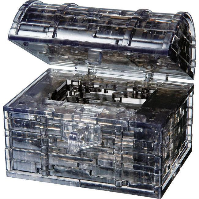3D Crystal Puzzle: Treasure Chest Black