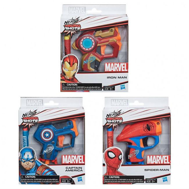 Nerf: Marvel Microshots Ast (6) Toys and Action Figure