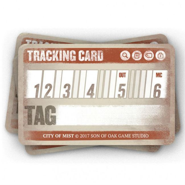 City of Mist RPG Tracking Cards