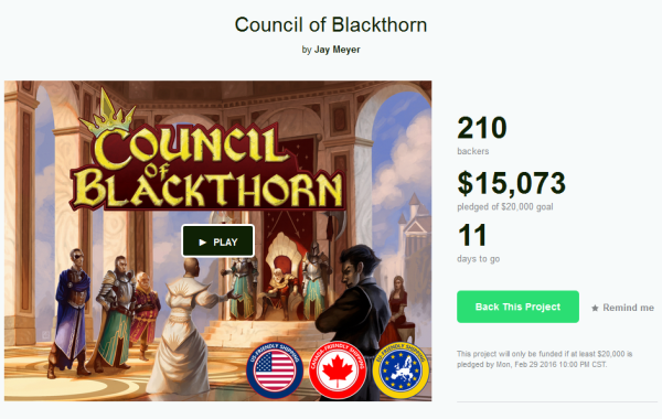 Council of Blackthorn Board Game