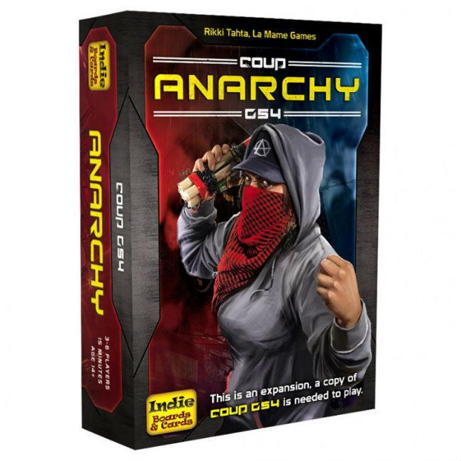Coup Rebellion G54 Anarchy Card Game Indie Boards and Cards