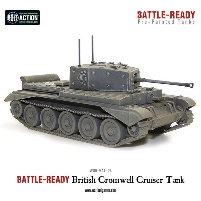 Cromwell Battle Ready Tank, Bolt Action model