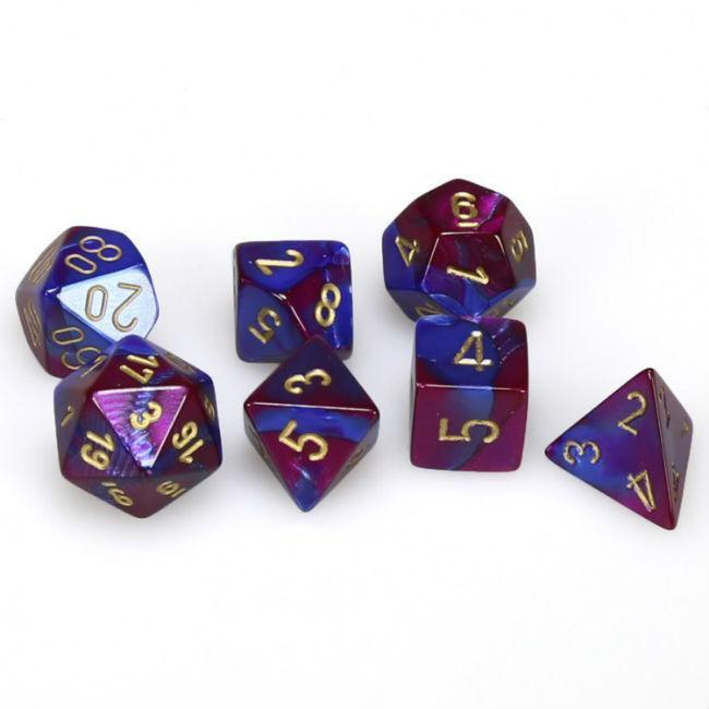 Cube Gemini Set of 7 Dice Games Chessex Manufacturing
