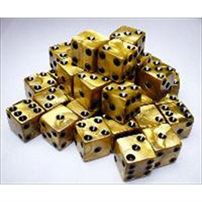 Cube Olympic Dice Gold with Black Accessories Koplow