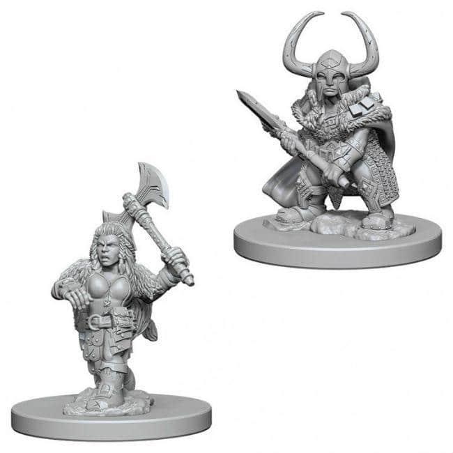 D&D NMU: Dwarf Female Barbarian W4 Miniatures WizKids