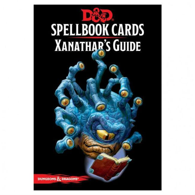 D&D Spell Book Cards Xanathars Guide