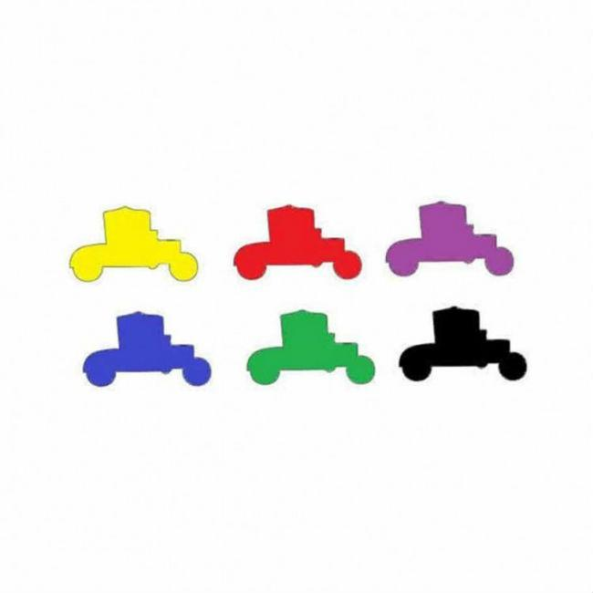 Deluxe Wooden Car/Auto Token Set Accessories Mayday Games