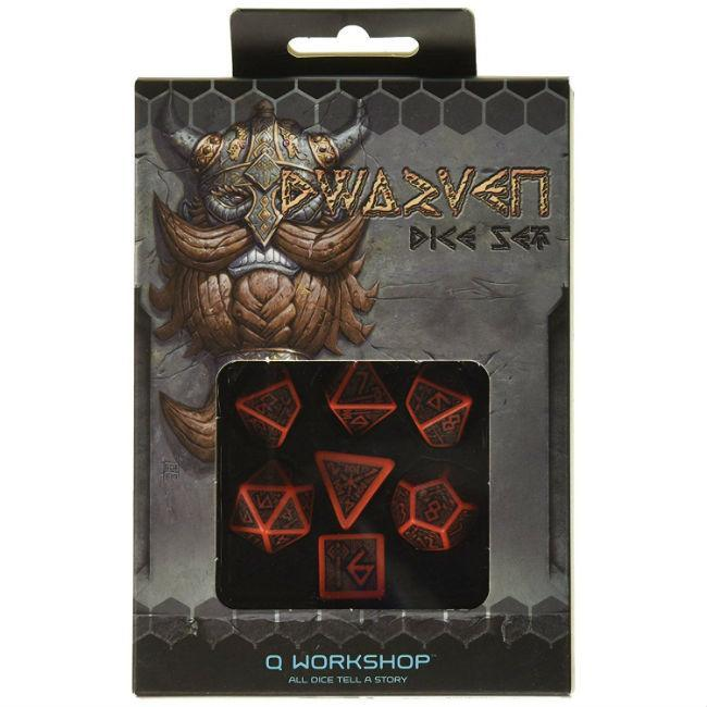 Dwarven Dice Red/Black (7) Accessories Q-Workshop