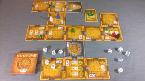 Escape! The Curse of the Temple Board Game Tile Pieces