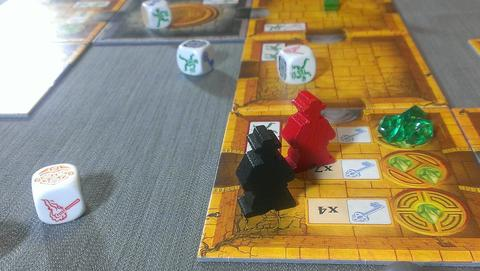 Escape Board Game Tile Pieces Close Up