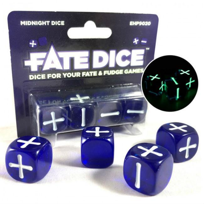 Fate Dice: Midnight Dice Accessories Evil Hat Productions