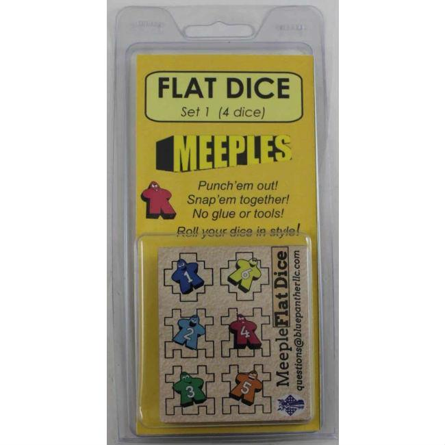 Flat Dice One: Meeples (4) Accessories Blue Panther