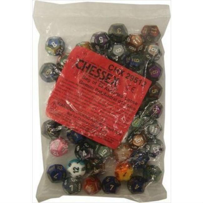 Gemini Poly Assorted Dice Bag Accessories Chessex Manufacturing