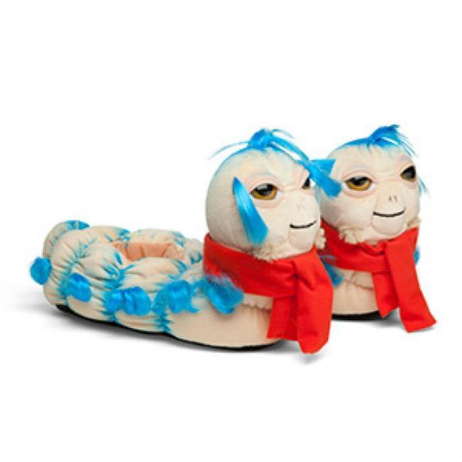 Labyrinth 'Ello Worm Plush Slippers Accessories Toy Vault