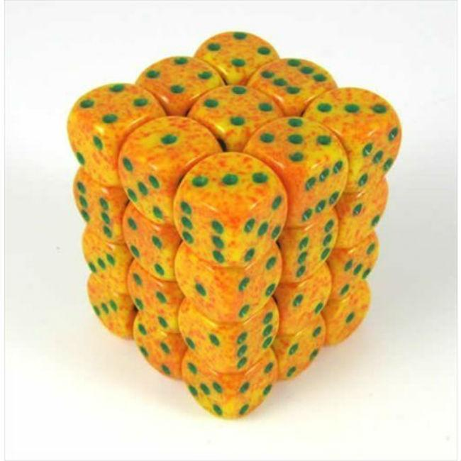 Lotus Speckled 6 Sided 12 mm Dice Set