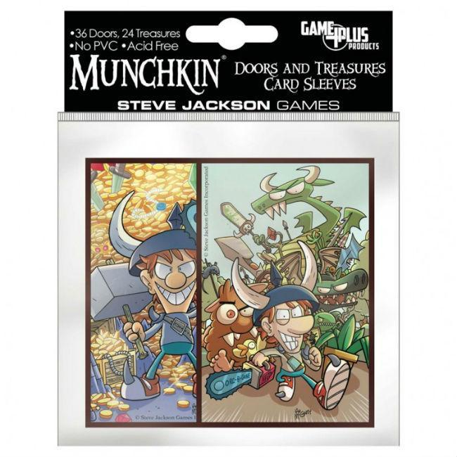 Munchkin Doors & Treasure Card Sleeves CLEARANCE Steve Jackson Games