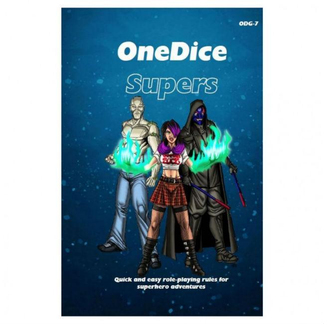 OneDice Supers Role Playing Games Cakebread & Walton