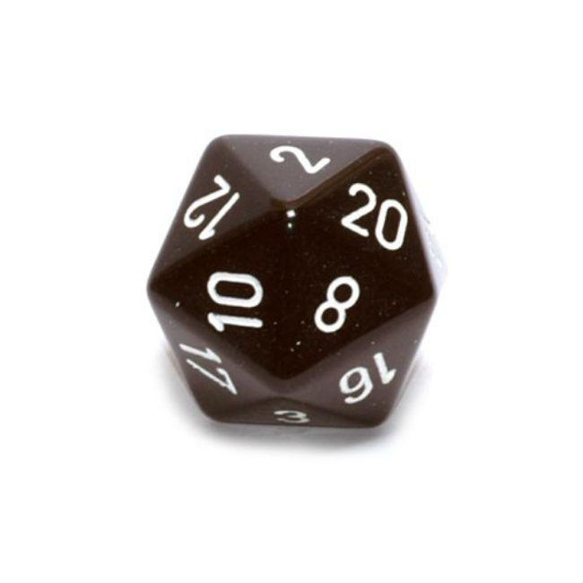 Opaque Dice: Black with White Accessories Chessex Manufacturing
