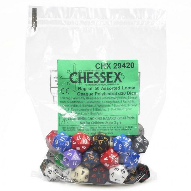 Opaque Poly Assorted Bagged Dice Accessories Chessex Manufacturing