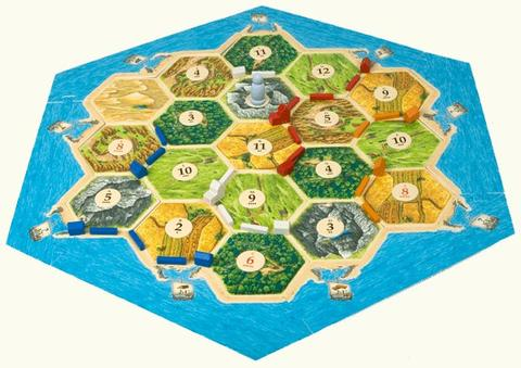 Settlers of Catan Board Game Pieces