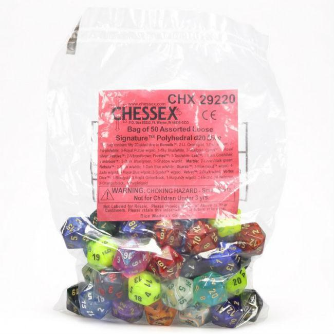 Signature Assorted Bag (50) Accessories Chessex Manufacturing