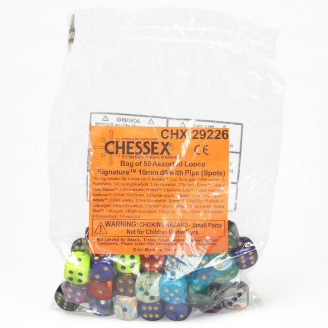 Signature Pips Assorted Dice Accessories Chessex Manufacturing