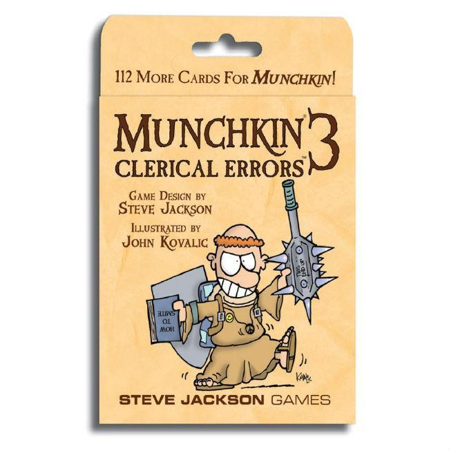 Steve Jackson: Munchkin 3 Clerical Errors Card Game