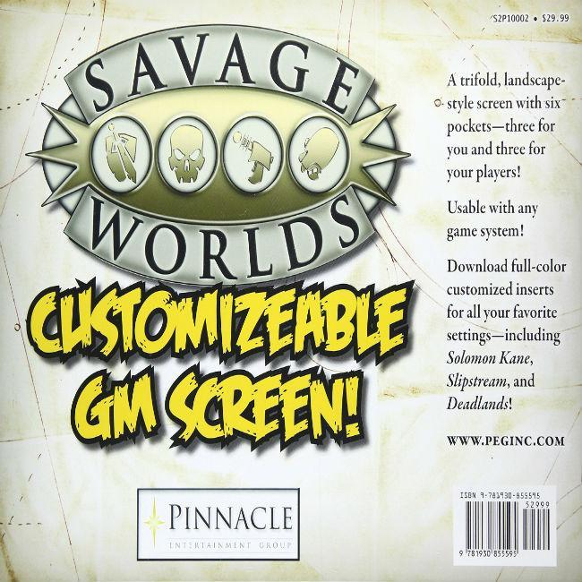 Studio 2 Publishing: Savage Worlds GM Screen Role Playing Games Role Playing Games Studio 2 Publishing