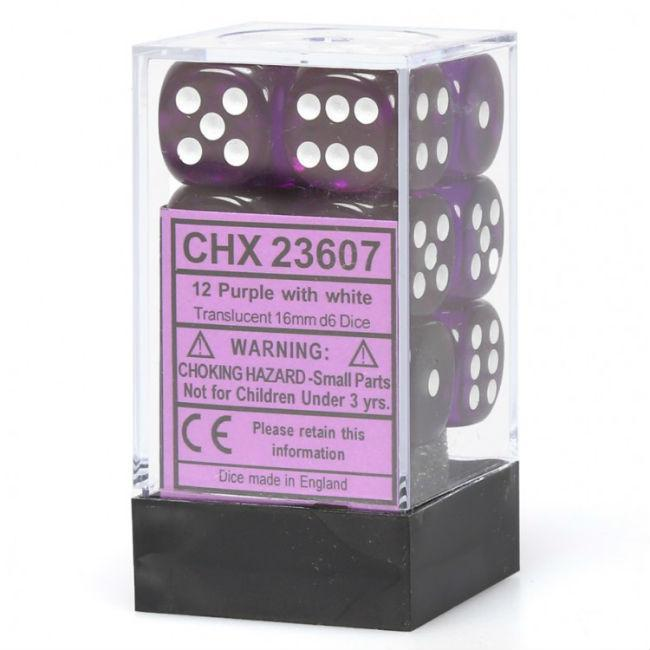 Translucent Purple Sided Dice Block