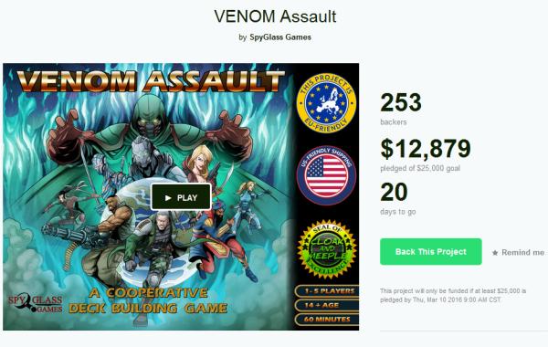 Venom Assault Board Game