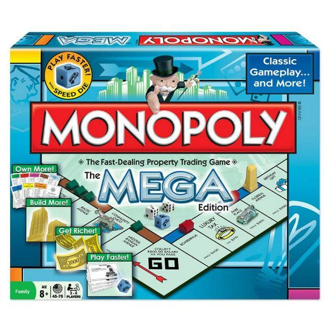 Winning Moves: Monopoly Mega Edition Board Game
