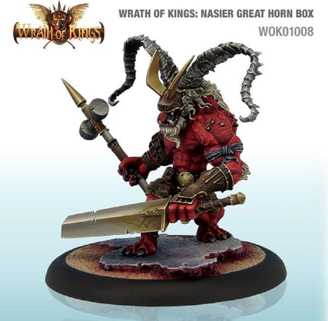 Wrath of Kings: Nasier Great Horn Box Miniatures CMON
