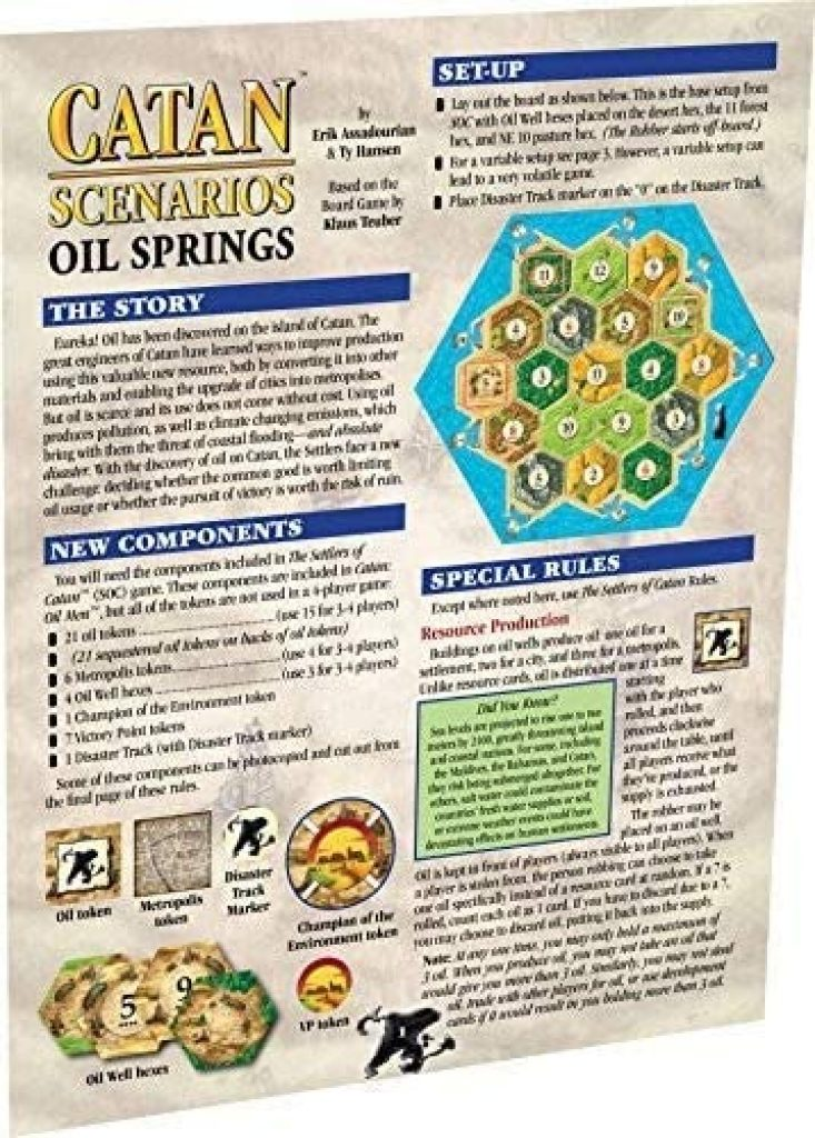 Catan Expansion Oil Springs Scenario