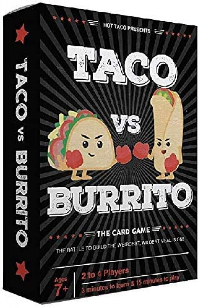 Taco vs Burrito Small Card Game