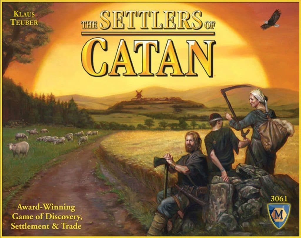 settlers of catan board game cover