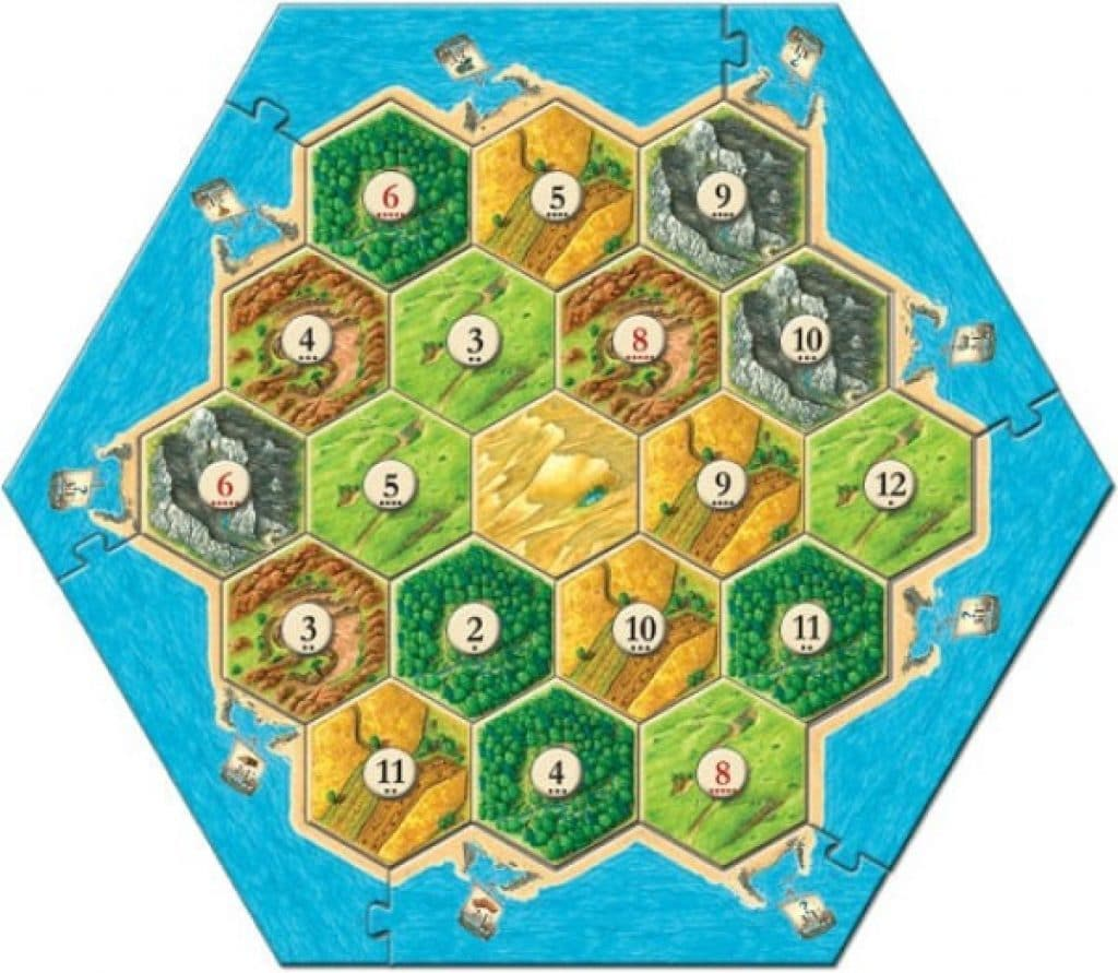 settles of catan board game pieces